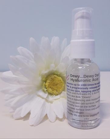 Hyaloronic acid treatement bottle