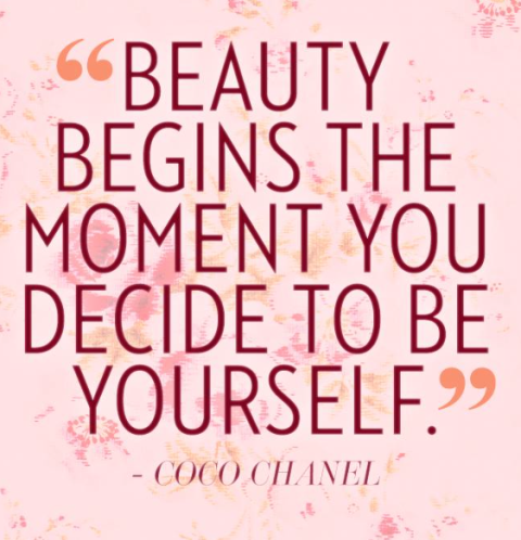 Beauty begins the moment you decide to become yourself